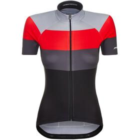 Red Cycling Products Colour Maglietta a Maniche Corte Donna, nero/rosso